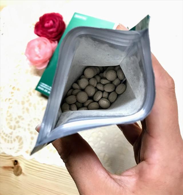 スリムフォー,機能性表示食品,葛の花由来イソフラボン,中身の粒