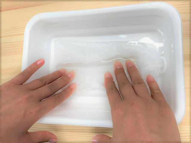 どろあわわ,どろ豆乳石鹸,洗顔石鹸,洗顔,泡,泥,豆乳,口コミ,レビュー,泡立てネットを水につける