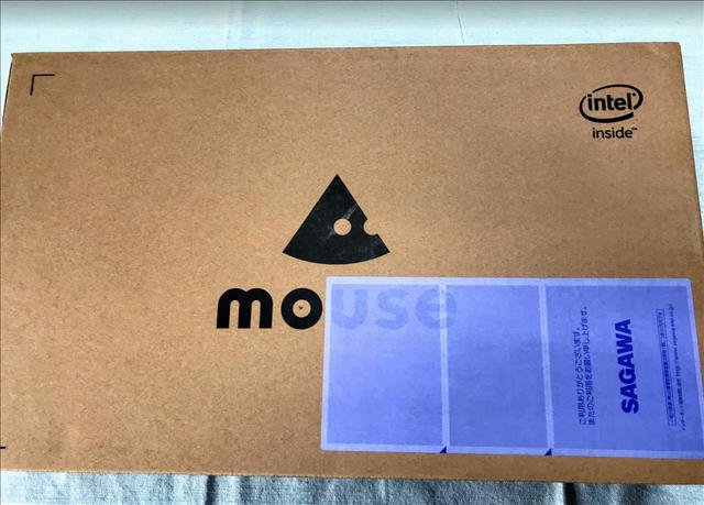 マウスコンピューター,ノートPCの箱